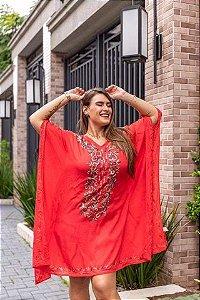 Vestido tipo Tunica Caftan Indiano  Luxuoso  Bordado