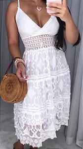 Vestido Feminino Rendado Indiano Delicado
