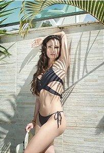 Bikini Cropped Transpassado Calcinha Levanta Bumbum G