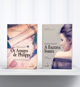 COMBO - Livros de Letras Grandes: A Escrava Isaura + Os Amores de Philippe