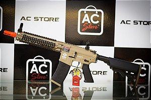 Fuzil Rifle Arma de Airsoft Elétrica G&G CM18 Mod 1 Desert