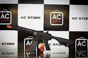 Fuzil Rifle Arma de Airsoft Elétrica G&G CM15 KR-CQB 8.5