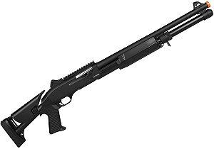 Shotgun Rifle Arma de Airsoft Spring CM 373M Preto