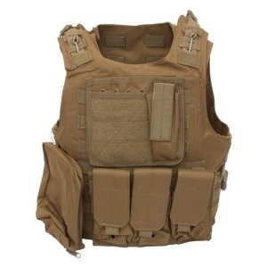 Colete Tático Militar Airsoft QGK Assault Tan