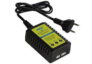 Carregador de Bateria Lipo Inteligente Compacto Feasso FF-B3AC