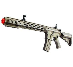 Fuzil Rifle Arma de Airsoft Elétrica Cyma CM 518 Desert Tan