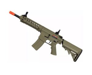 Fuzil Rifle Arma de Airsoft Elétrica Cyma CM 516 Desert Tan