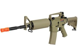 Fuzil Rifle Arma de Airsoft Elétrica Cyma CM 503 M4A1 Carbine Desert Tan