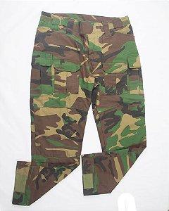 Calça Militar Tática Combat Fogaça Woodland