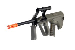 Fuzil Rifle Arma de Airsoft Elétrica JG Works AUG-2 com Luneta 3x