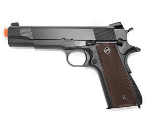 Pistola Airsoft GBB Gas Blowback Double Bell M1911 783 Preto/Marrom