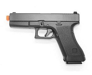 Pistola de Airsoft Gas GBB Glock Double Bell 763 BlowBack Cal 6.0mm + Case