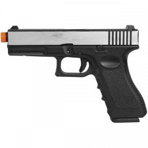 Pistola Airsoft GBB Gas Blowback Double Bell Glock G17 721L Prata
