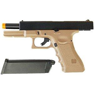 Pistola Airsoft GBB Gas Blowback Army Armament Glock G17 R-17 Tan