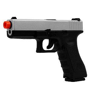 Pistola de Airsoft a Gás GBB Green Gas Glock R17 Black/Silver