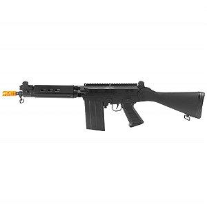 Fuzil Rifle Arma de Airsoft Elétrica QGK K58 Fal 7.62 com Blowback
