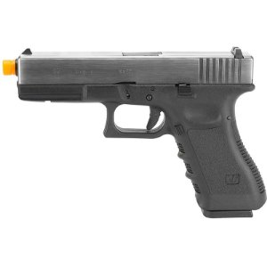 Pistola Airsoft GBB Gas Blowback WE Glock G17 Gen3 Prata