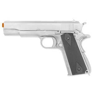 Pistola Airsoft GBB Gas Blowback WE Colt M1911 Cromada