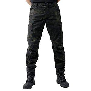 Calça Militar Tática Combat Bélica Multicam Black