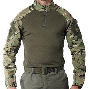 Camisa Militar Tática Combat Shirt Bélica Multicam