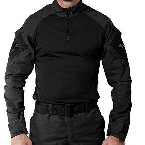 Camisa Militar Tática Combat Shirt Bélica Preta