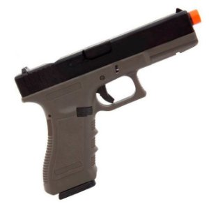 Pistola Airsoft GBB Gas Blowback Army Armament Glock G17 R-17 OD