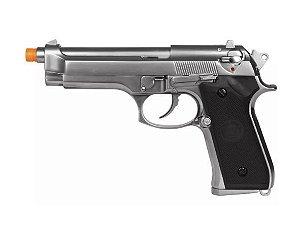 Pistola Airsoft Gbb We M92 Cromada Black Full Metal