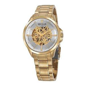 Relógio Seculus Dourado Automático Esqueleto 20754GPSVDA2