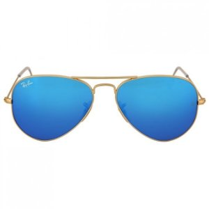 Ray Ban Aviador Dourado Lentes Azul Espelhado RB3025L e822b6b56c