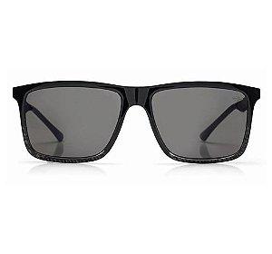 Óculos de Sol Mormaii Kona Plus M0058ADF01 Fibra Carbono Preto Brilho - Lente cinza