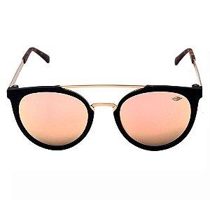 7182b37a9bce5 Mormaii Los Angeles - Óculos de Sol Preto Fosco e Dourado  Rosê Espelhado -  M0062