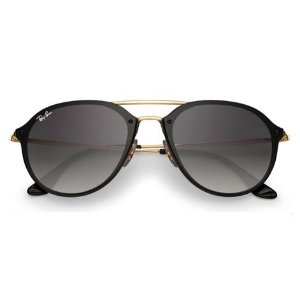 Ray Ban Blaze Double Bridge RB4292-N 601/11 62-14 Preto e Dourado