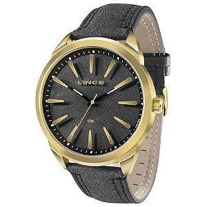 Relógio Lince Masculino Pulseira Couro Wr 50 Metros Mrc4385s