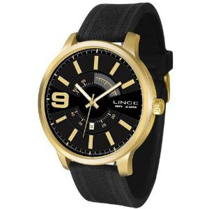 Relógio Lince Masculino Mrph055s P2px Casual Dourado