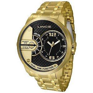 Relógio Lince Masculino Mrgh049s P2kx Dourado Preto Aço