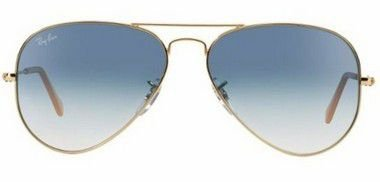 Ray Ban Aviador Gradiente Dourado Lentes Azul Degrade RB3025L 001 3F