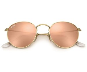 Ray Ban Round Flash Lenses Espelhado Rosé