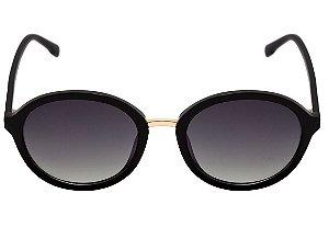 Óculos de Sol Bulget Preto Brilho Degradê Polarizado BG5096 A01