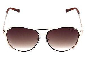 Óculos de Sol Bulget Marrom e Dourado Brilho Degradê BG3202 04A