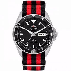 Relógio Orient Automático 469ss064 Pulseira Nato Bicolor
