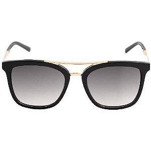 f4ab3ed4e3915 Ana Hickmann Ah9233 - Óculos De Sol Preto E Dourado Brilho  Preto Degradê