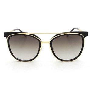 Óculos de Sol Ana Hickmann Preto Ponte Dupla AH9248