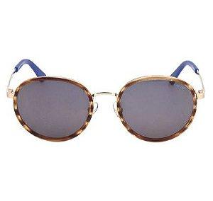 Óculos de Sol Colcci Redondo Dourado Tartaruga