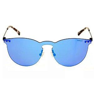 Óculos De Sol Colcci Prata E Marrom Azul Espelhado C0076