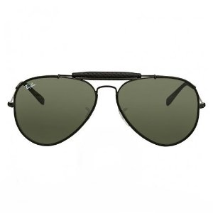 RAY-BAN Outdoorsman RB3422Q 9040 LEATHER BLACK
