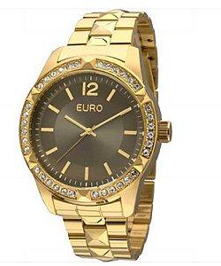 Relógio Euro Feminino Com Pedrinhas