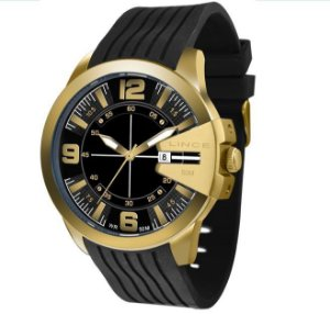 Relógio lince Esportivo Dourado