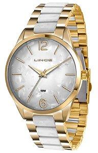 Relógio Lince Feminino slim Dourado