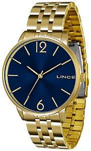 Relógio Lince Feminino Dourado com Ponteiro