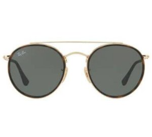 Ray Ban Round Double Bridge RB3647-N 001